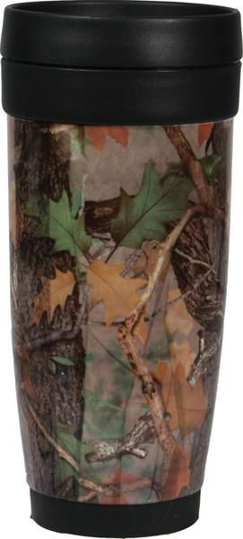 Fall Transitions Camouflage Stainless Steel Plastic Insulated Travel Mug 1072