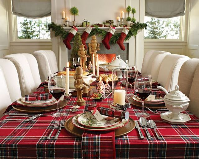 Holiday plaid and white