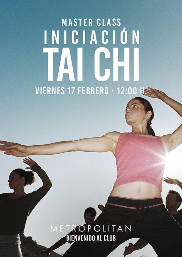 El próximo viernes,  17 de febrero a las 12:00h., realizaremos una Master Class de Iniciación al Tai Chi en Metropolitan Abascal. Ven a conocer los fundamientos y beneficios del Tai Chi.
