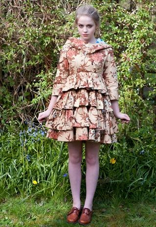 Full circle dress with hood by Jennie Loof