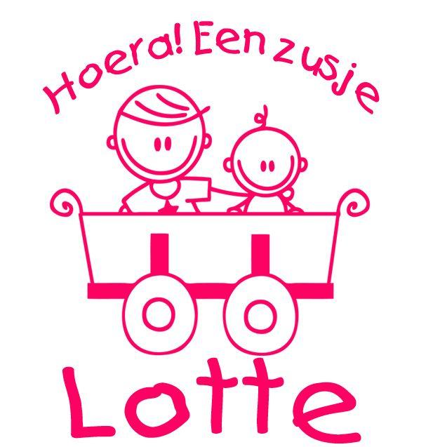 Geboortesticker type Lotte | Geboortesticker meisje | Geboortesticker Company