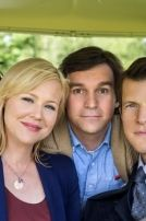 Cast pictures from Signed, Sealed, Delivered From left to right: Crystal Lowe as Rita Kristin Booth as Shane Geoff Gustafson as Norman Eric Mabius as Oliver © Crown Media United States, LLC