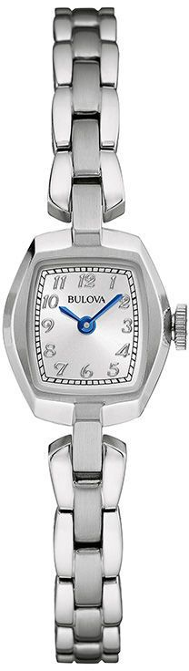 Zales Ladies' Bulova Classic Collection Watch with Rectangular Silver-Tone Dial (Model: 96L221)