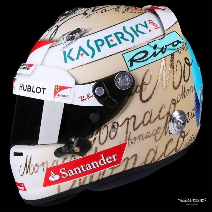 Sebastian Vettel Helmet Design Monaco GP 2017 by JMD
