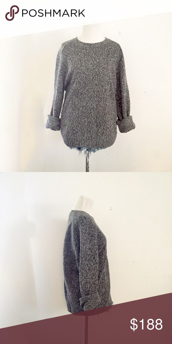 Blumarine Charcoal Marled Sweater This sweater is by ultra high-end brand, Blumarine. Authentic & made in Italy. This piece is top of the line! In excellent condition. Will send to the dry-cleaner prior to shipment. Blumarine Sweaters