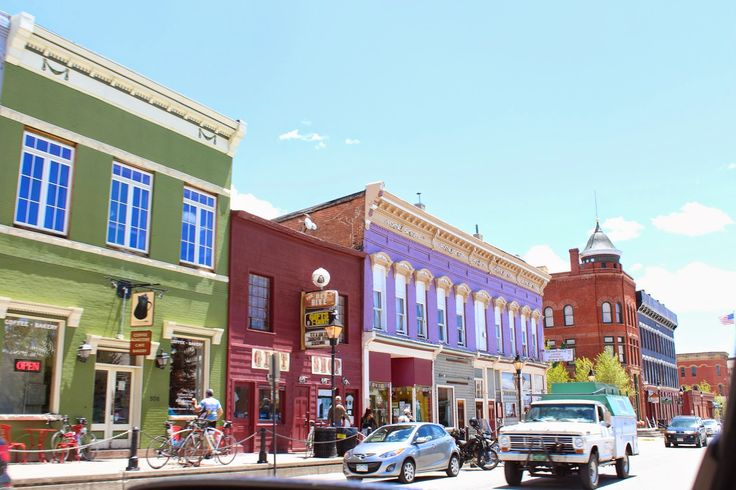 leadville, colorado Adorable city. The curbs are like 2 feet up because of the snow.  /N