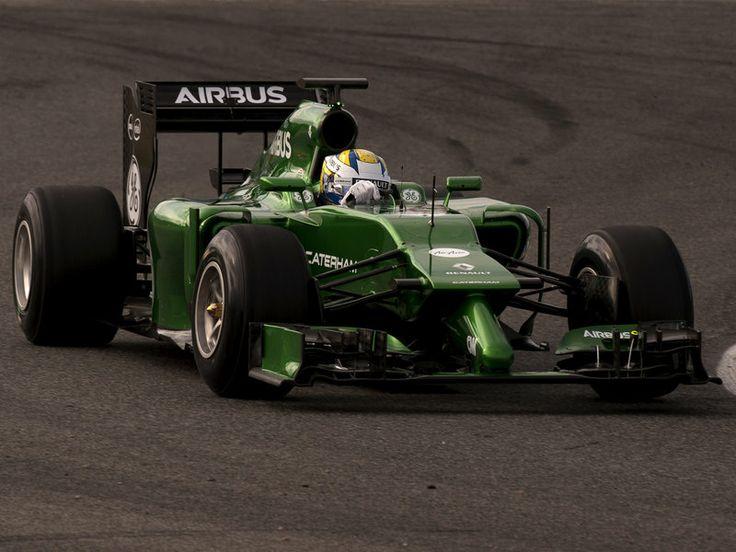 Marcus Ericsson on track in the Caterham