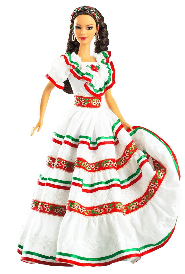 Cinco De Mayo Barbie Doll- I love her hair!!! It's so thick and pretty! Her dress is so beautiful and bright!