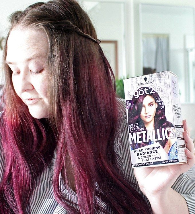 Diy At Home Hair Dye Tips Tricks Twisted Headband Styling Tutorial With Schwarzkopf Got2b Metallics Smoky Violet All Things Beautiful Xo In 2020 Home Hair Dye Tips Hair