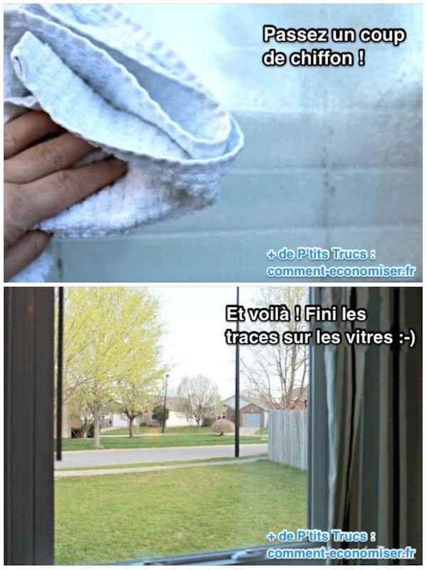 Nettoyant magique pour faire les vitres sans traces
