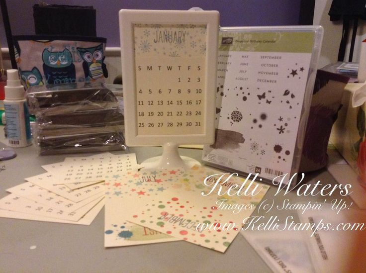 Stampin Up Calendar Ideas : Kelli s korner perpetual birthday calendar stampin up