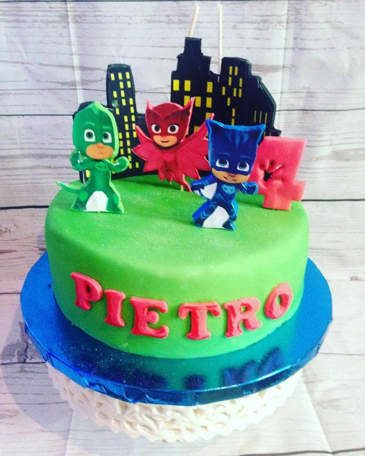 A PJ Mask cake on the weekend. Gluten Free & Dairy Free