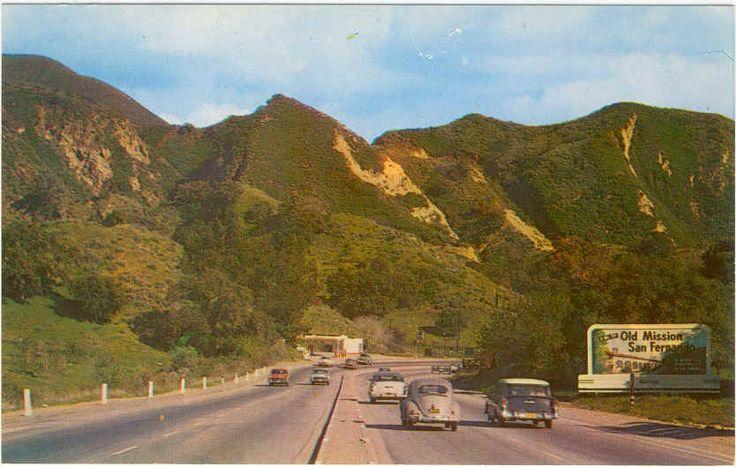 Santa Clarita Ca >> Postcard view of US 6 in the 1950's. The 14 Freeway ...