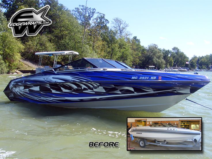 Boat Graphics Designs Ideas boat graphics stripe vinyl ready Before After Boat Wraps Boat Graphics Designs Ideas