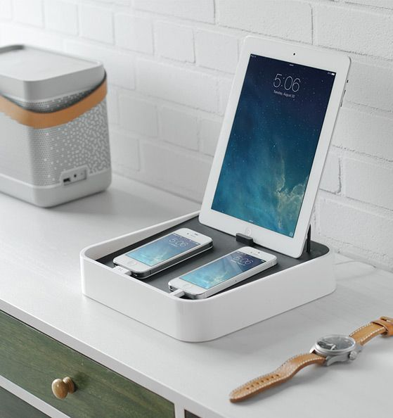 The Bluelounge Sanctuary4 Charging Station. A neat and organised way to charge your gadgets without dealing with the mess of cables.