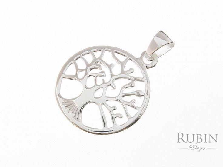 Életfa motívumos ezüst medál