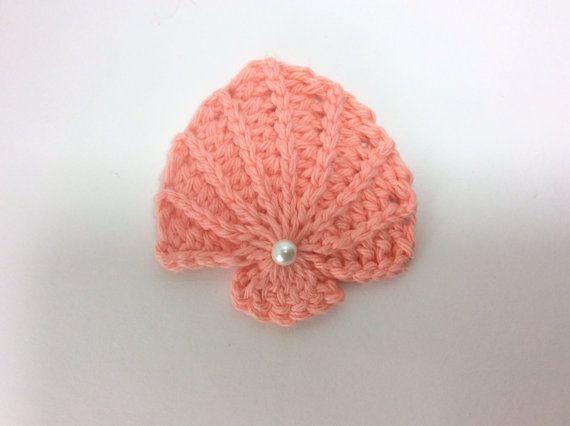 PDF Crochet seashell PATTERN, textured seashell pattern, seashell appliqué, permission to sell finished items