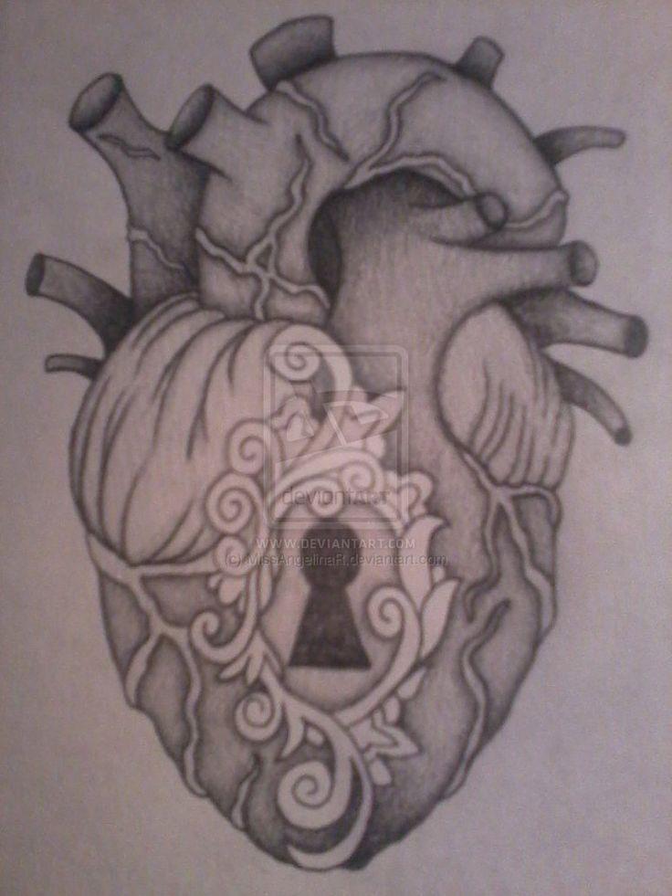 anatomical heart tattoo | Anatomical Heart Locket by ~MissAngelinaR on deviantART