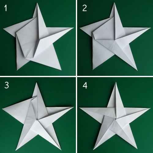 Origami Star Christmas Ornaments: