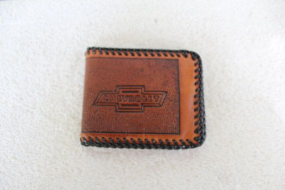 5ff8cb0f6f110 Handcrafted leather Wallet, Stamped Chevrolet, Chevy Lover Men's ...