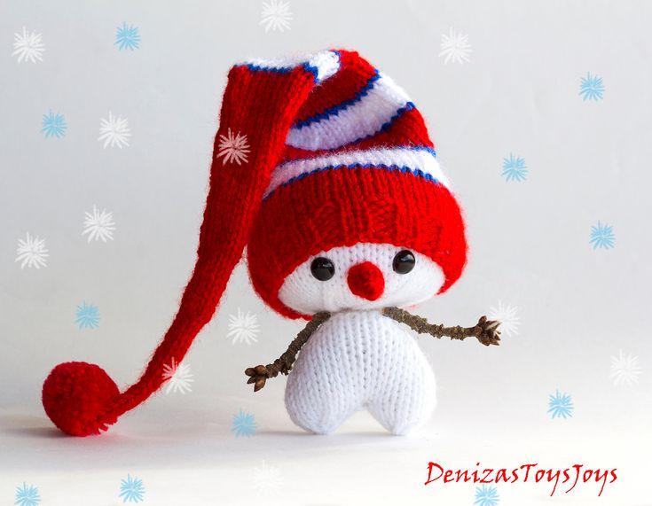 Сердечный Снеговик PDF образец вязания. Трикотажное в побочном deniza17