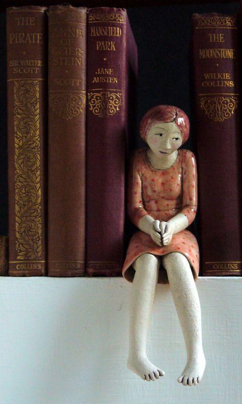 .Una bella figura como separador de libros