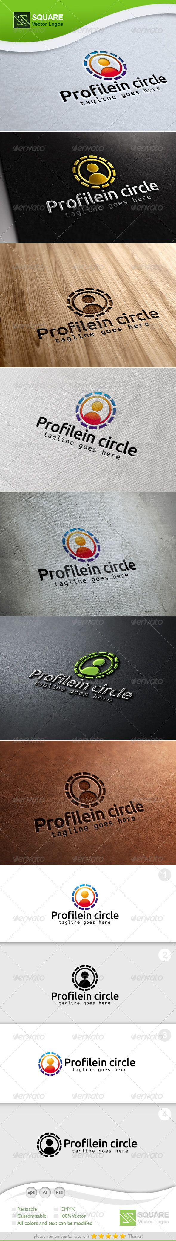 Circle, Human Vector Logo Template — Photoshop PSD #identity #customer • Available here → https://graphicriver.net/item/circle-human-vector-logo-template/7129545?ref=pxcr