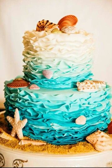 Pretty Beach Wedding Cake