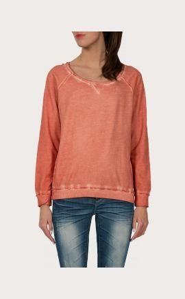 Eksept Trui Raw oranje. De trui heeft een ruimvallend model. De sweater heeft een detail op het achterpand. #oranje #wkvoetbal #wkbrazilie2014 #wkoranje #oranjeproducten