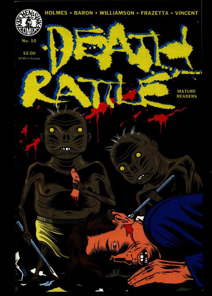 DEATH RATTLE #10 Wally Wood Al Williamson Joe Coleman Roy Krenkel Rand Holmes Science Fiction Psychedelic Underground Anthology Comic