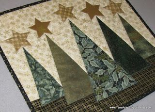 Small Christmas quilt - this would also be very pretty at each end of a table runner.