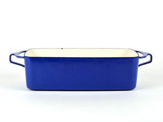 Vintage Dansk Kobenstyle Blue Enamel Loaf Bread by ZintageArchive
