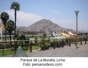 Conozca la Gran Muralla de Lima.  El monumento arquitectónico la Gran Muralla que fue levantada en el margen del río Rímac, en Lima, es apreciada por miles de visitantes que llegan al parque del mismo nombre en busca de sano esparcimiento en familia.
