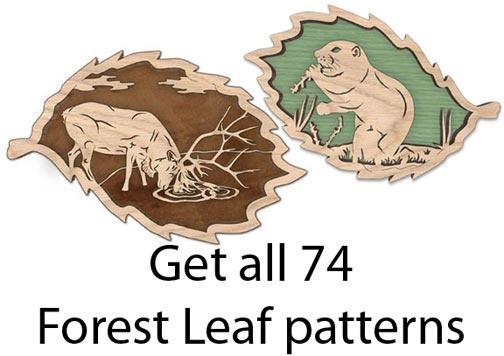 FLSET3 - Set of all 74 Forest Leaf & Endangered Forest Leaf Patterns