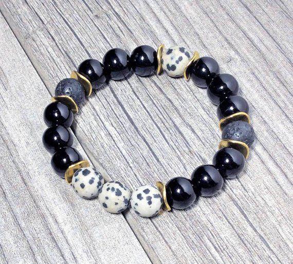 Gemstone Bracelet Gemstone Jewelry Matte Dalmatian Jasper Women/'s Bracelet Dalmatian Jasper Jasper Bracelet Jasper Jewelry Jasper