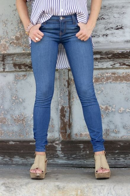 01a9a042478 Judy Blue Skinnies | Medium Wash in 2019 | Denim. | Blue skinnies, Skinny,  Blue