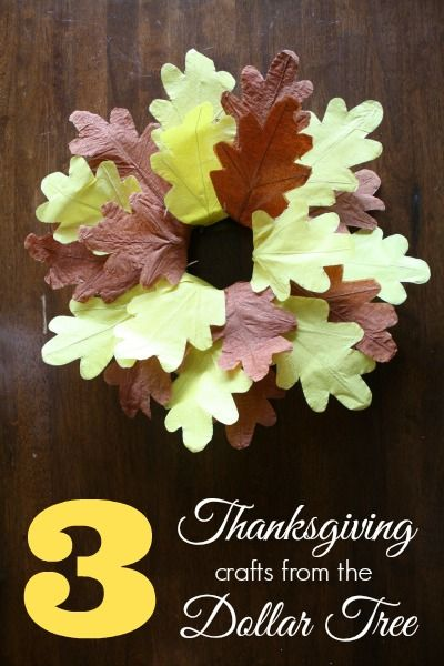 3 Easy Thanksgiving Crafts from the Dollar Tree #DollarTree