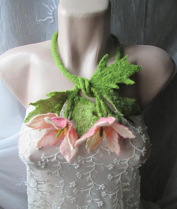 Felted flowersWoodland Costume-Fairy NecklaceFelt