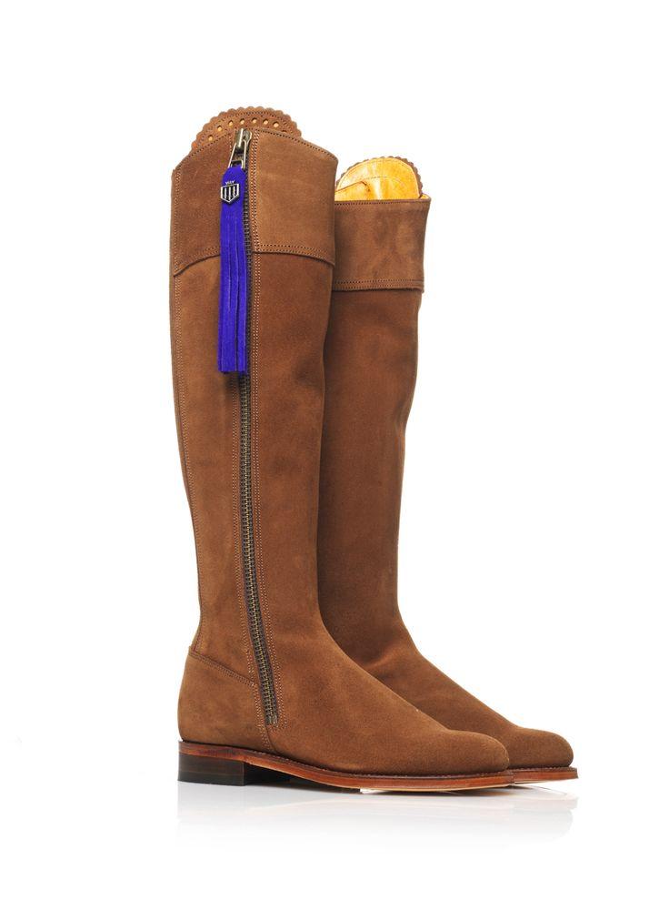 The Regina (Tan) - Suede Boot