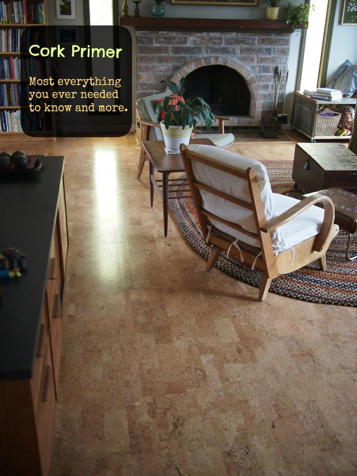 Cork floors in the family room?  Would be easy to lay over the concrete after ripping up the carpet, and not contrast the historic wood in the rest of the house.