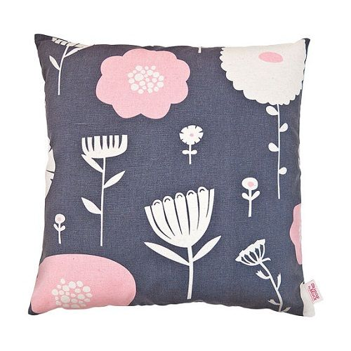 Wild Flowers Strawberry Plum Cushion