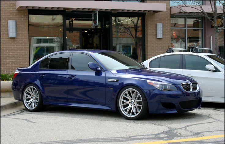 Blue BMW E60 3
