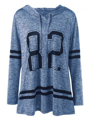 Plus Size Graphic Marled Tunic Hoodie 3
