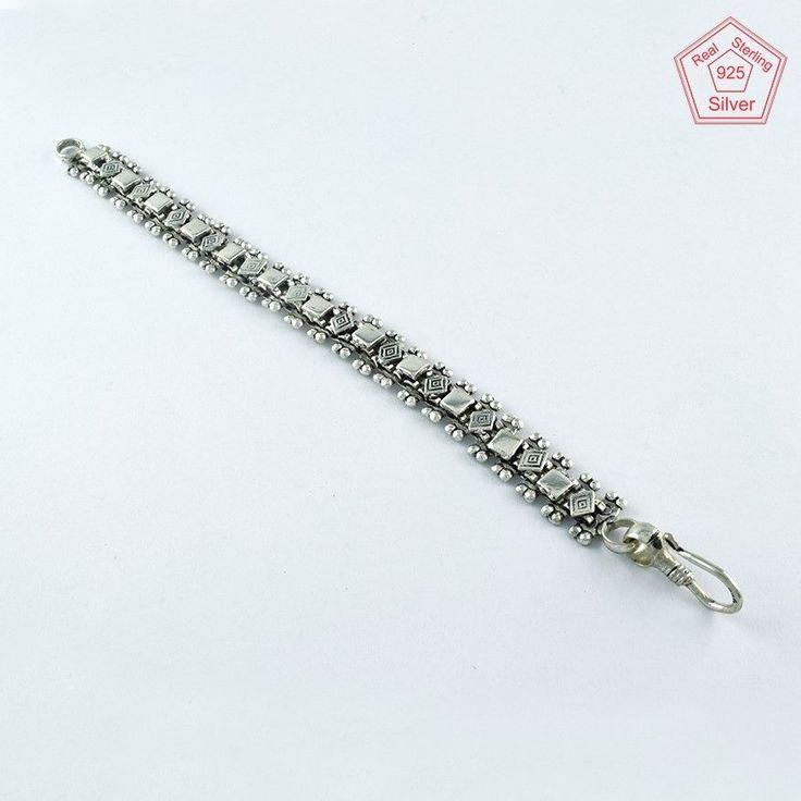 FABOULUS DESIGN 925 STERLING SILVER BRACELET BR4369 #SilvexImagesIndiaPvtLtd #Chain