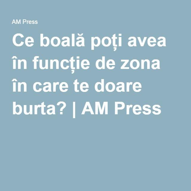 Ce boală poți avea în funcție de zona în care te doare burta? | AM Press