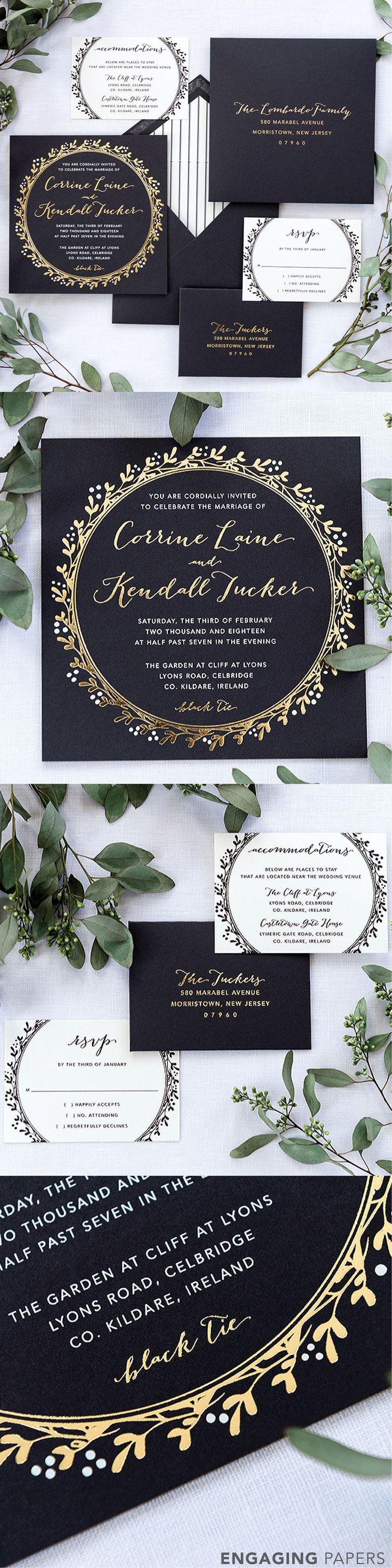 25 best victorian images on pinterest bridal dresses wedding this 2 ply irish inspired wedding invitation suite is striking to say the least stopboris Images