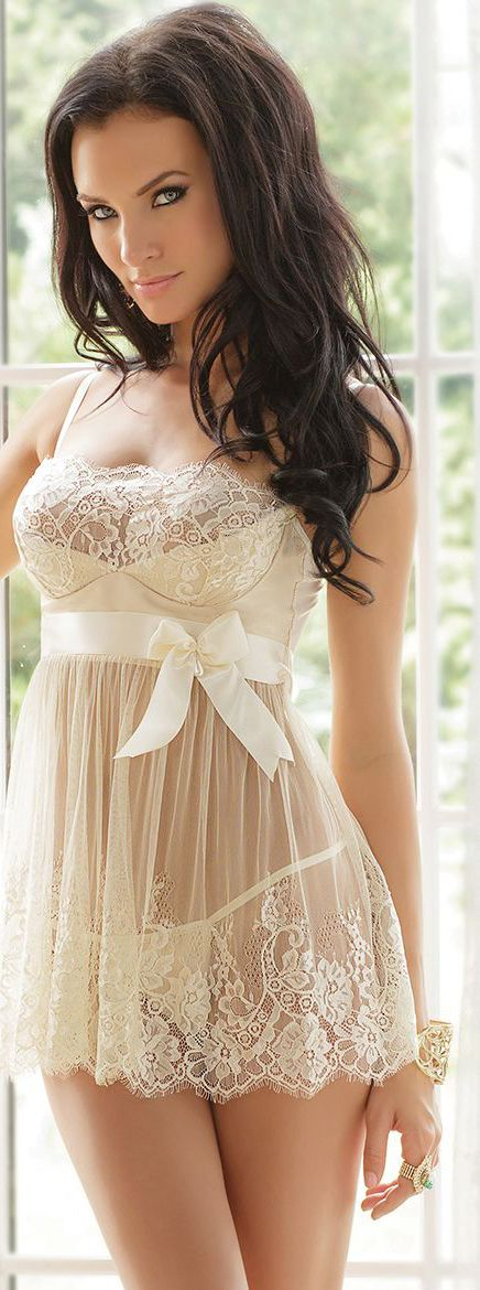 Your idea elegant white wedding lingerie