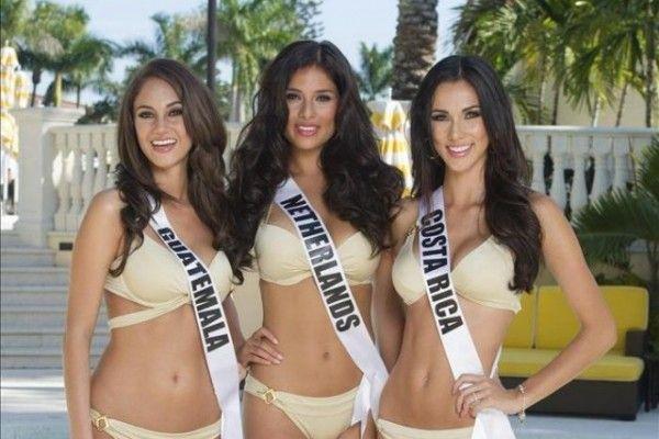 Candidatas a Miss Universo calientan motores con una clase de zumba  Foto: EFE