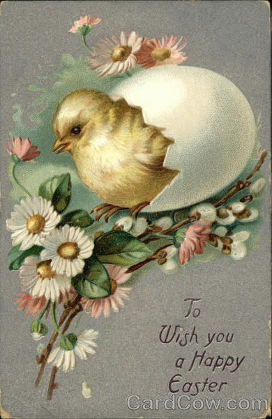To Wish you a Happy Easter With Chicks
