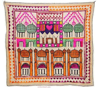 Vintage-embroidered-silk-prayer-cloth-Hazara-people-of-Bamiyan-Afghanistan-No-2